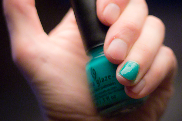 China Glaze - Keepin' It Teal - photo by Karin Johansson / @akrogirl / AkroPlanet Enterprise / akroplanet.se / CC-BY-NC-SA [2013]