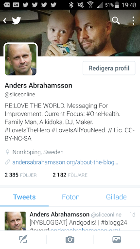 Ny twitterprofil, in the making. Kanske en comeback till Twitterträsk, månne? Ny avatar det enda kvar att fixa.