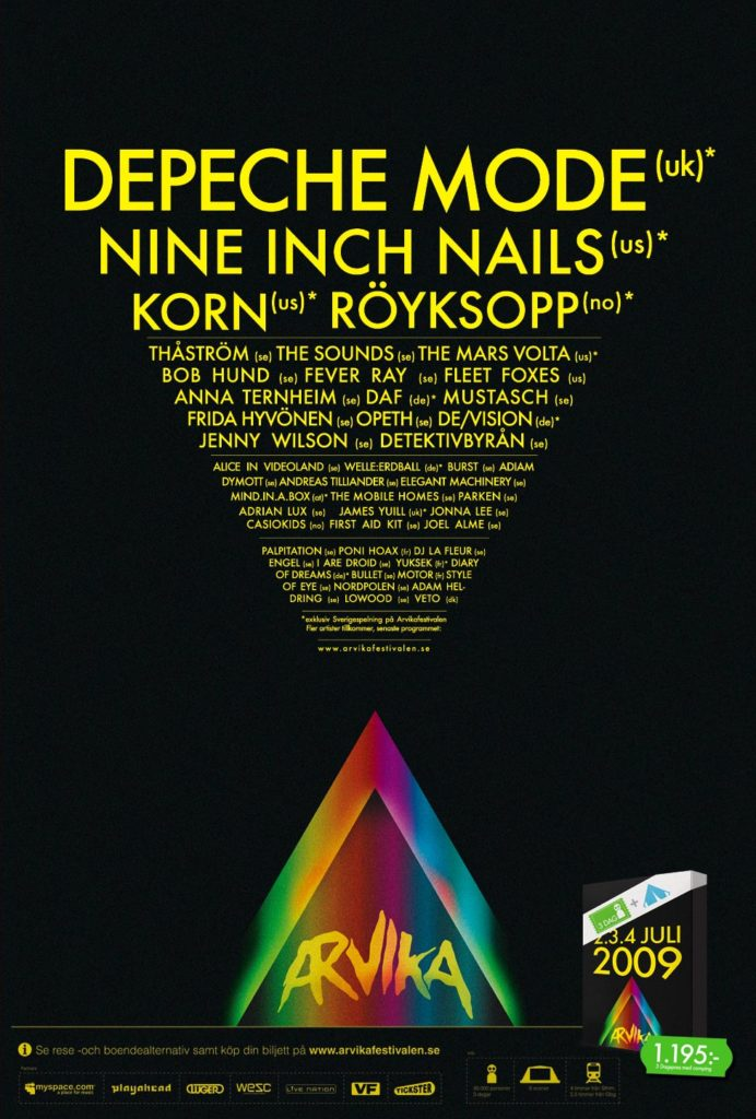 The Arvika Festival 2009 poster. Source: arvikamusik.se.